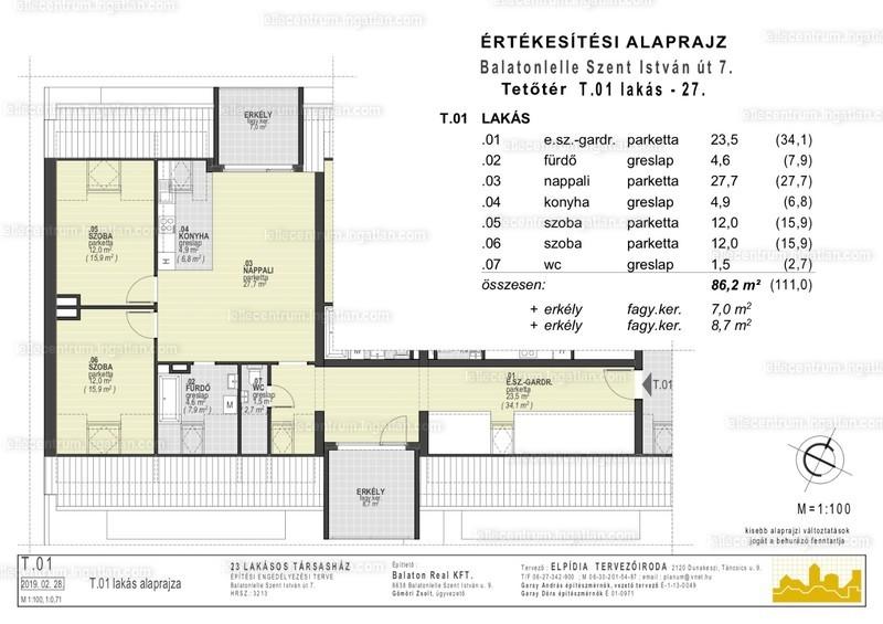 Lelle Centrum Társasház - 3 szoba erkéllyel