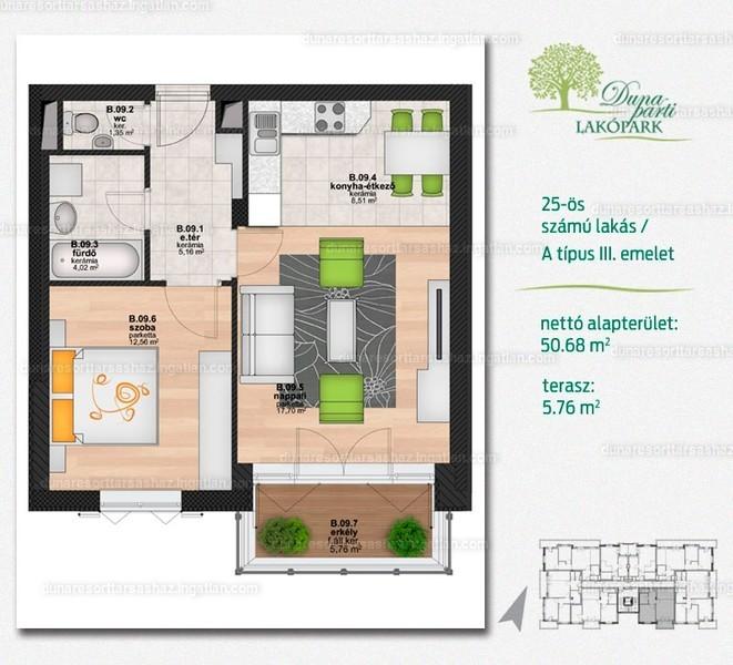 Duna Resort Társasház - 2 szoba erkéllyel