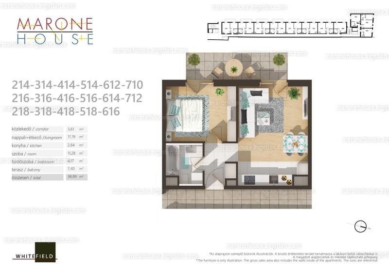 Marone House - 2 szoba erkéllyel