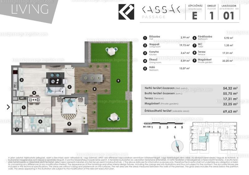 Kassák Passage - 2 szoba kertkapcsolattal