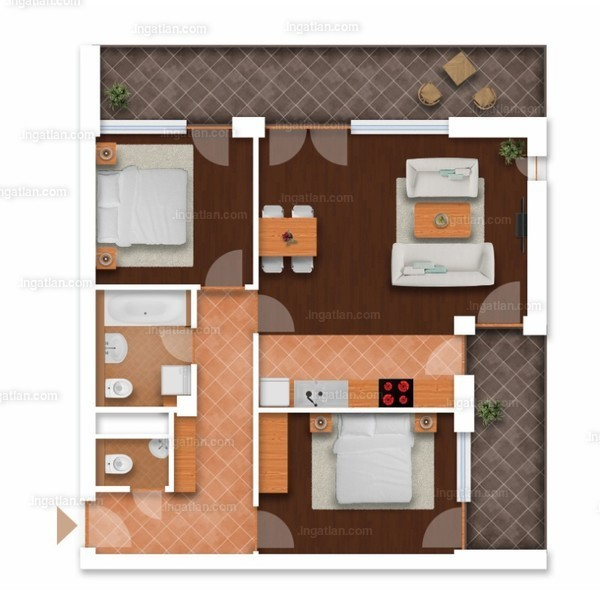 Somfa Liget VII. ütem - 2 + 1 szoba erkéllyel