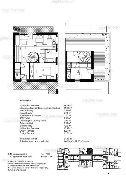 Orgonaliget Lakópark - 2 + 1 szoba erkéllyel