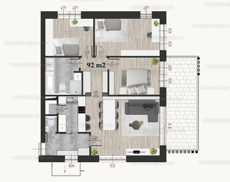 Charles Field - 4 szoba erkéllyel