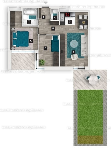 Kassák Residence - 3 szoba erkéllyel