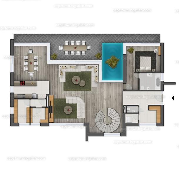 CapeTown Villapart - 5 szoba erkéllyel