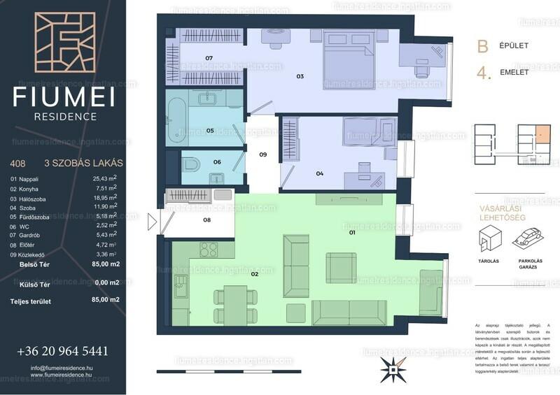 Fiumei Residence - 3 szoba