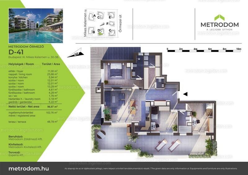 Metrodom Őrmező - 4 szoba erkéllyel