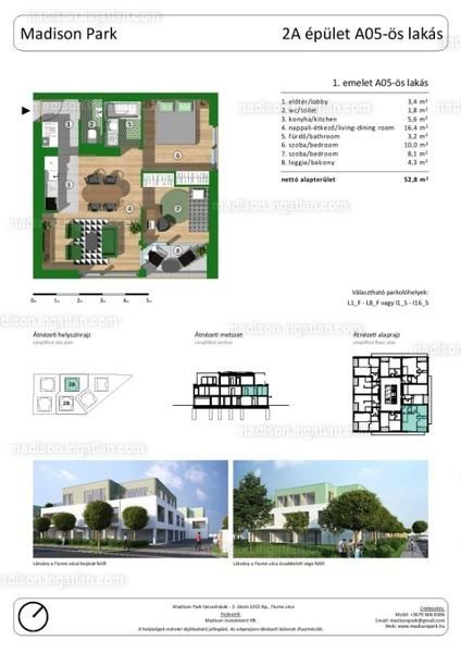 Madison Park I. ütem - 1 + 2 szoba erkéllyel