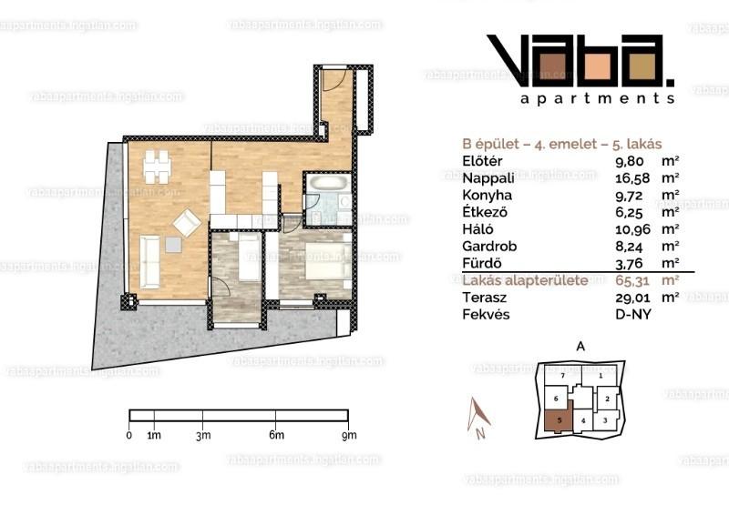 VABA apartments - 3 szoba erkéllyel
