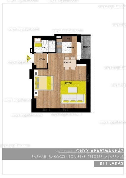 ONYX **** Luxury II. ütem - 1 szoba erkéllyel