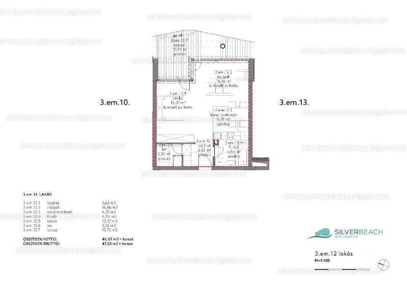 Silverbeach Residences - 2 szoba erkéllyel