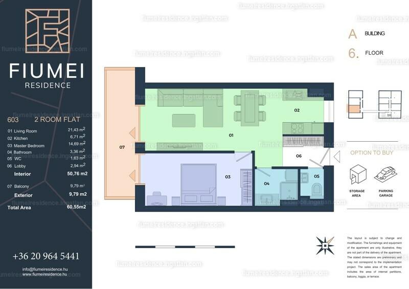 Fiumei Residence - 2 szoba erkéllyel