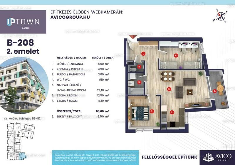 Uptown 2. ütem - 3 szoba erkéllyel