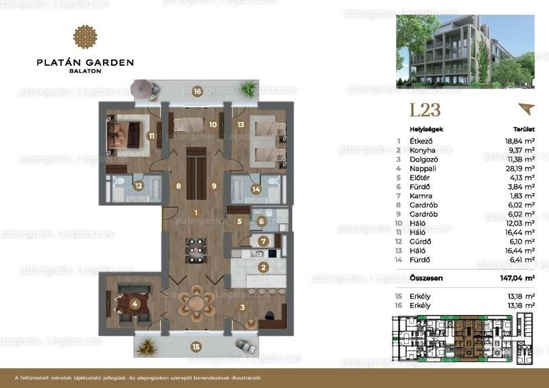 Platán Garden Balaton - 6 szoba erkéllyel
