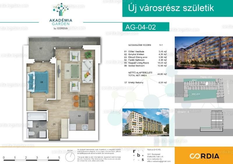 Akadémia Garden by Cordia - 2 szoba erkéllyel