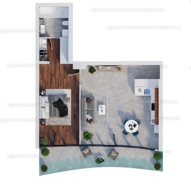 Egyetemvárosi luxuslakások - 2 szoba erkéllyel