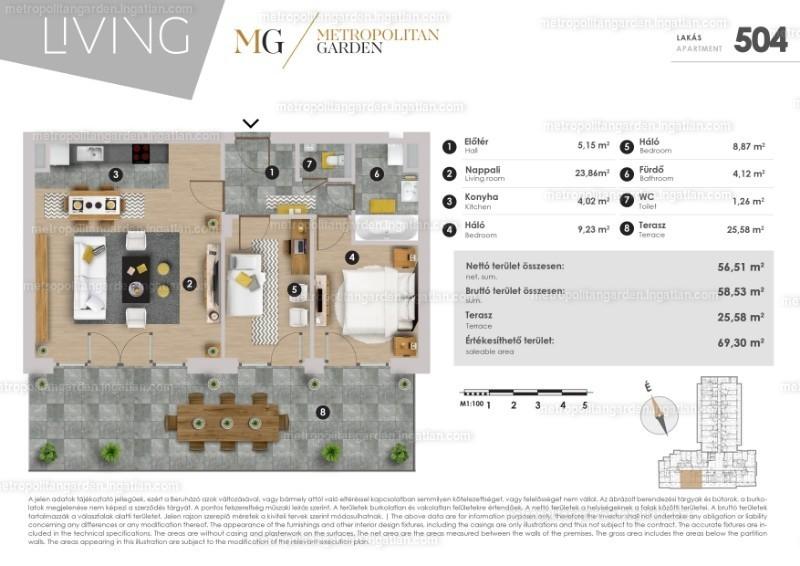 Metropolitan Garden - 1 + 2 szoba erkéllyel