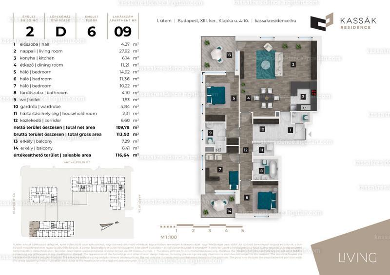 Kassák Residence - 4 szoba erkéllyel