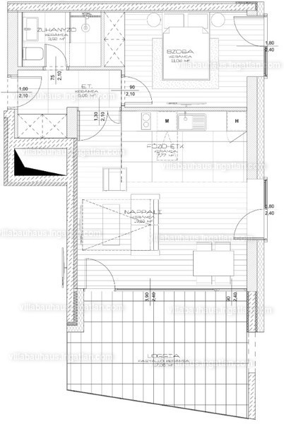 Villa Bauhaus - 2 szoba erkéllyel