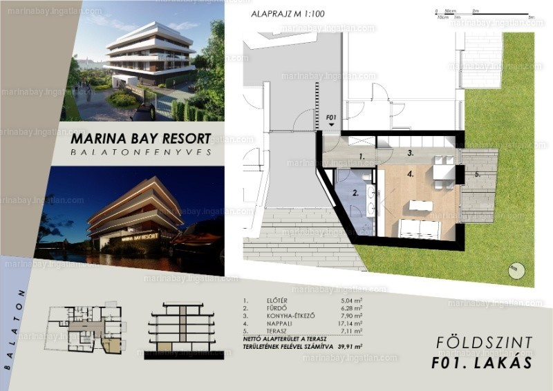 Marina Bay Resort - 1 szoba kertkapcsolattal