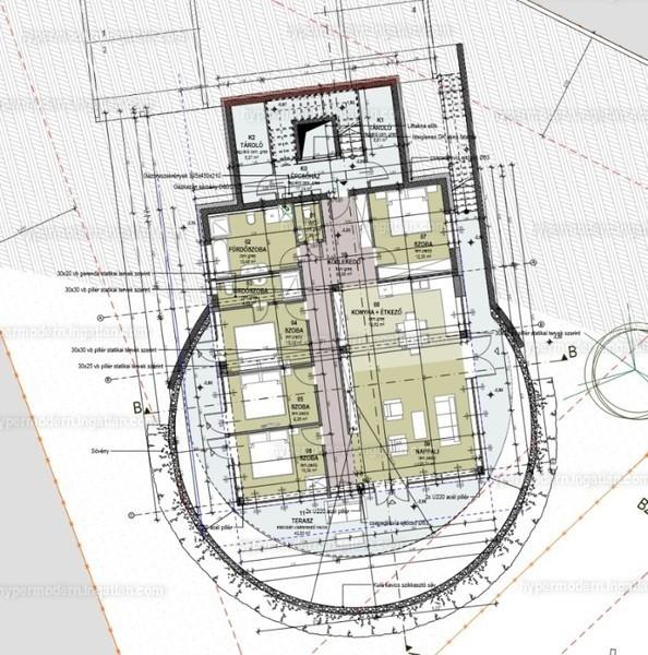 HYPERMODERN Madárhegy - 5 szoba erkéllyel