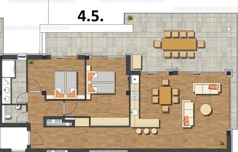 Aranypart Siófok Társasház - 3 szoba erkéllyel