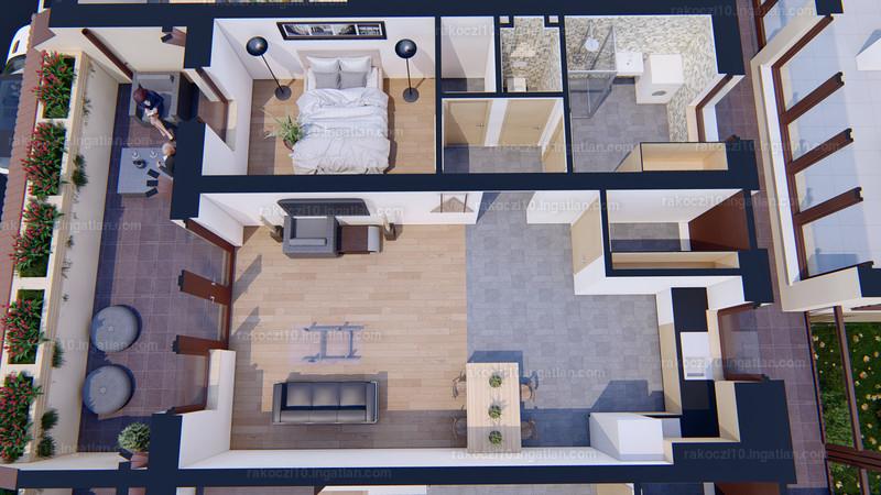 Rákóczi10 Lakópark - 2 szoba erkéllyel