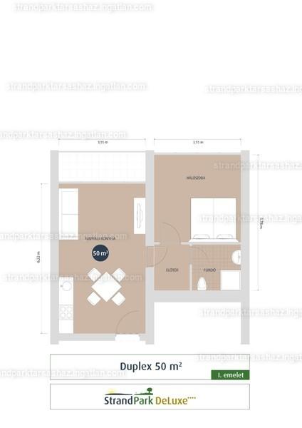 StrandPark DeLuxe ( III. Ütem ) - 2 szoba erkéllyel