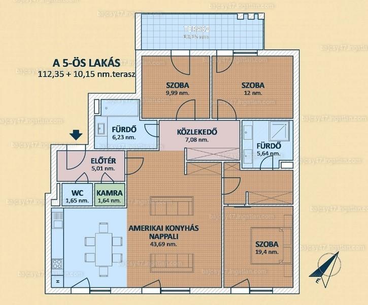 Bajcsy 47 Társasház - 4 szoba erkéllyel
