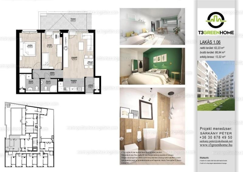 T3 Green Home - 3 szoba erkéllyel