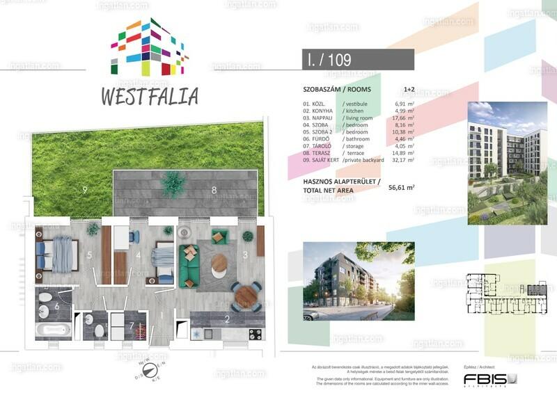 Westfalia - 3 szoba kertkapcsolattal