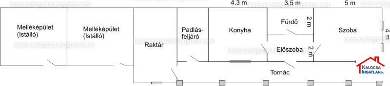 Ingatlan, eladó ház, Homokmégy, Hillye, 60 m2