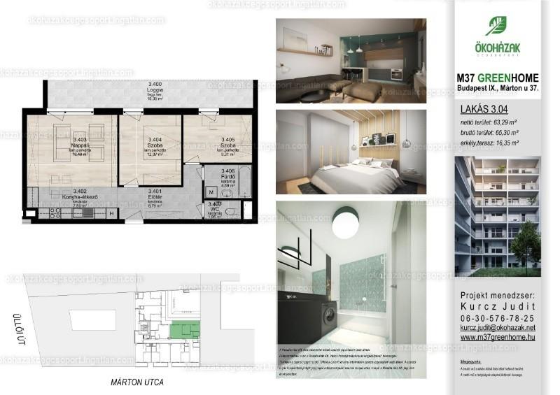 M37 Green Home - 3 szoba erkéllyel