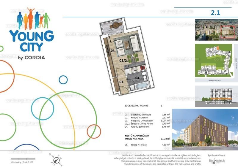 Young City 3 by Cordia - 1 szoba erkéllyel