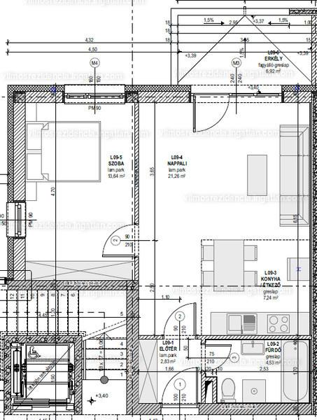 Vilmos Rezidencia - 2 szoba erkéllyel