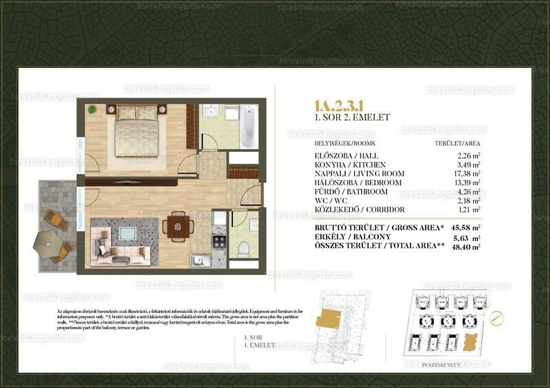 Forest Hill - 2 szoba erkéllyel
