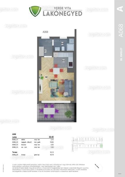 Verde Vita Vác - 1 szoba erkéllyel