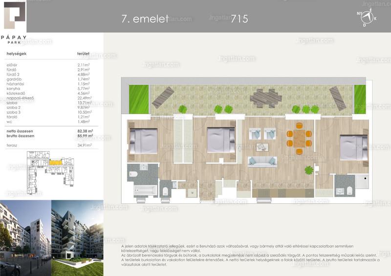 2 + 2 szoba erkéllyel
