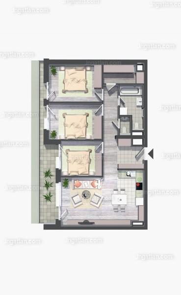 Kelenliget Ház - 4 szoba erkéllyel
