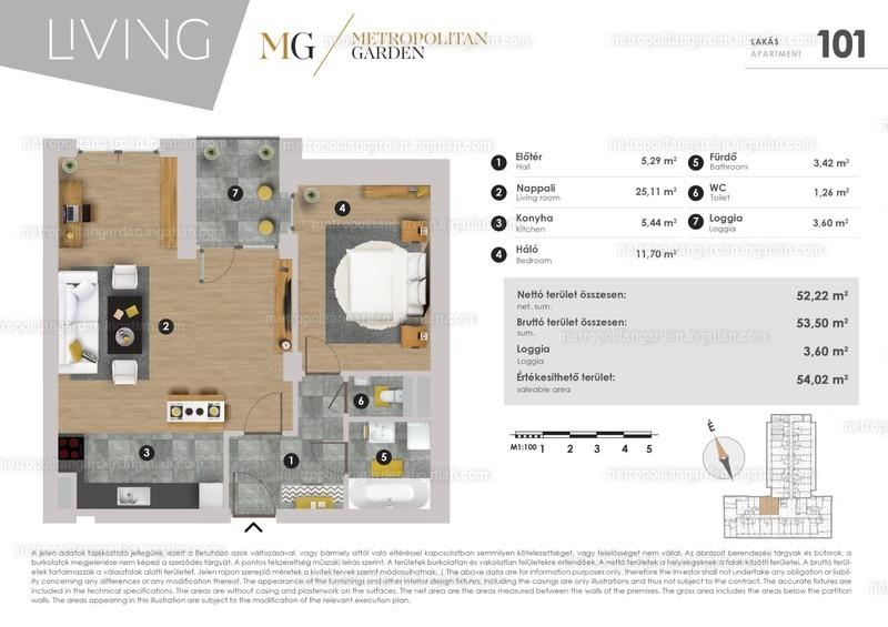 Metropolitan Garden - 2 szoba erkéllyel
