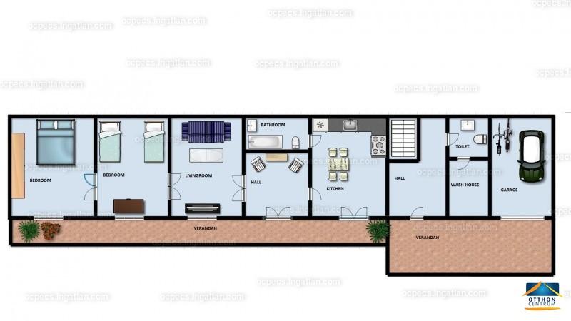 Ingatlan, eladó ház, Kiskassa, Baranya , 88 m2