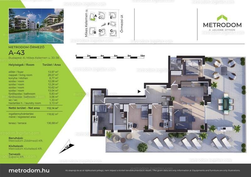 Metrodom Őrmező - 4 + 1 szoba erkéllyel