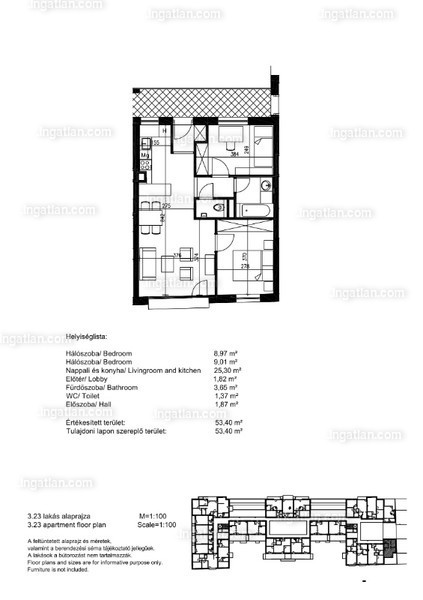 Orgonaliget Lakópark - 3 szoba