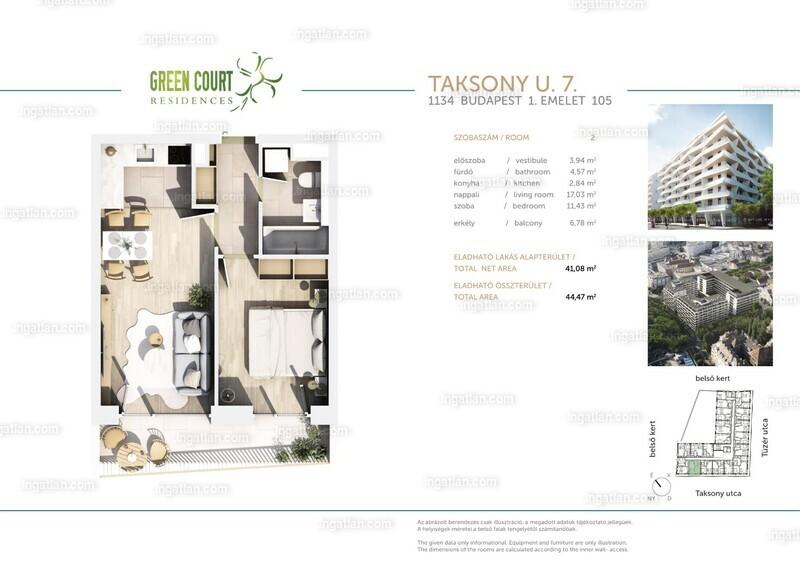 Green Court Residences - 2 szoba erkéllyel