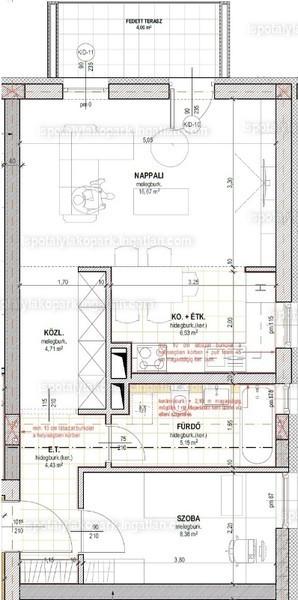 Ispotály Lakópark - 2 szoba kertkapcsolattal