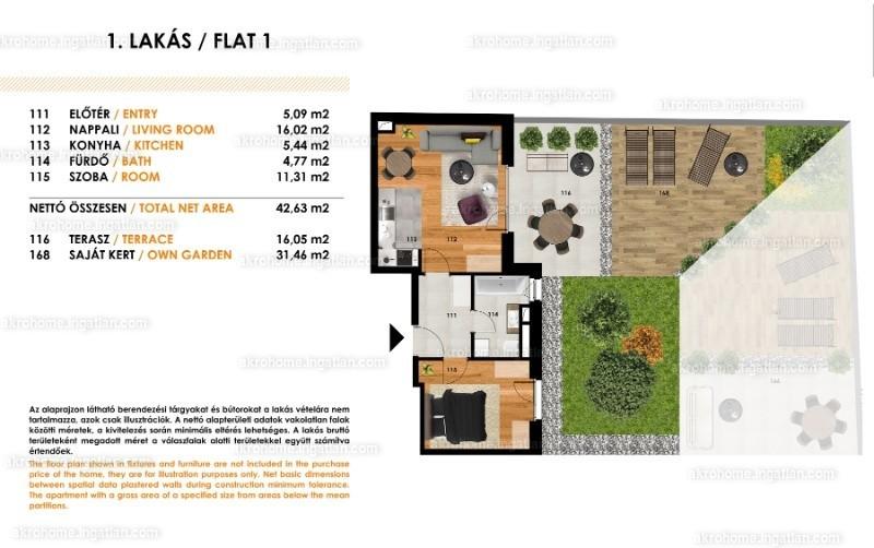 Tolnai Residence - 2 szoba kertkapcsolattal