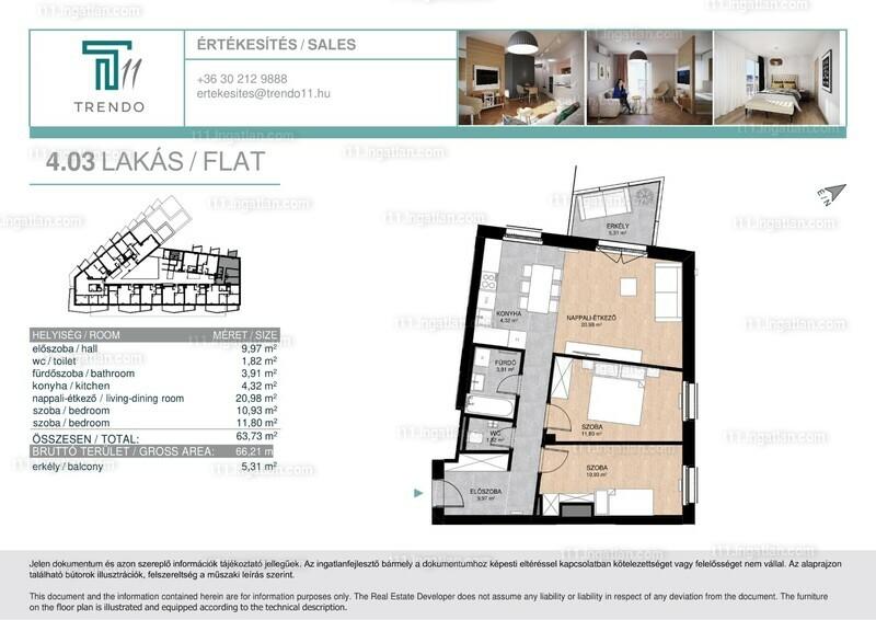 T11 - 1 + 2 szoba erkéllyel
