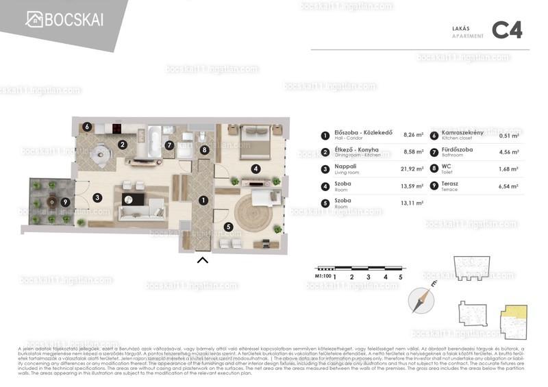 Bocskai11 - 2 szoba erkéllyel