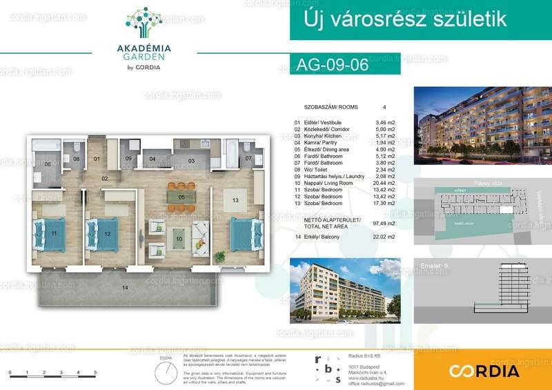 Akadémia Garden by Cordia - 4 szoba erkéllyel
