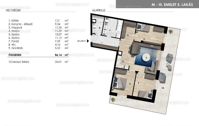Mistral Residence - 4 szoba erkéllyel